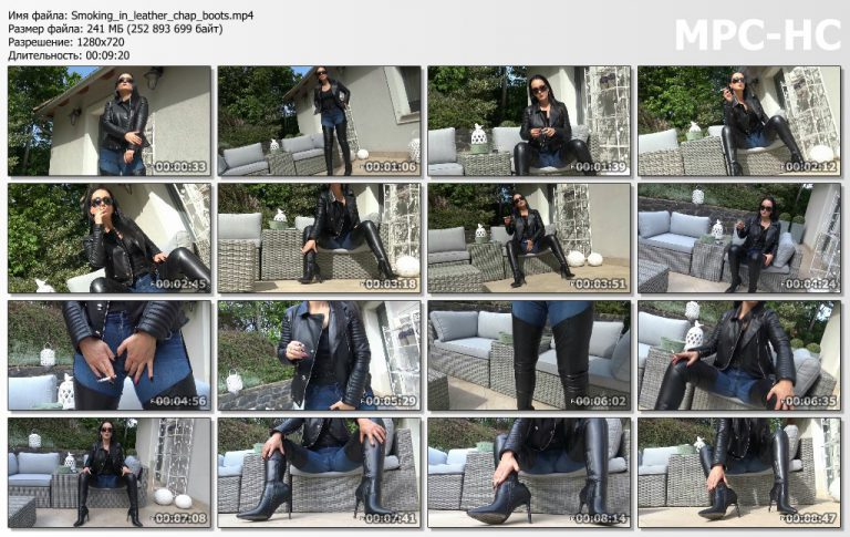 Smoking in leather chap boots.mp4 thumbs 768x485