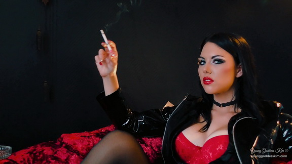 Young Goddess Kim Smoking Seductress.mp4 snapshot 02.27.220