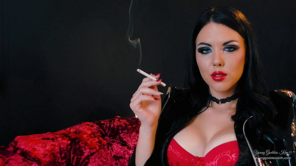 Young Goddess Kim Smoking Seductress.mp4 snapshot 08.37.220