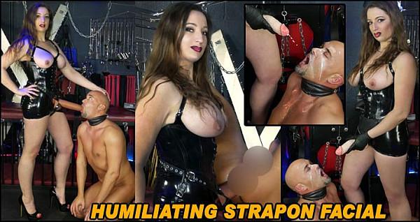 Humiliating Strapon Facial
