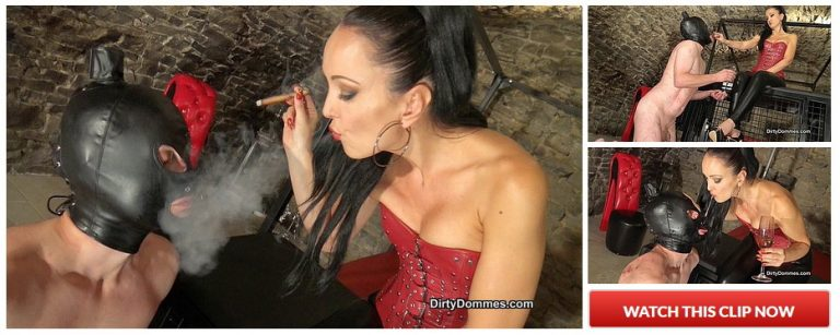 Ashtray slave serving his Mistress 768x307