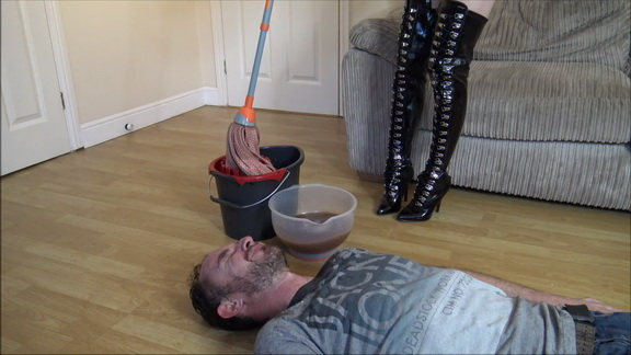Slave Gets Dirty Smelly Mop In His Face.mp4 snapshot 03.52.232