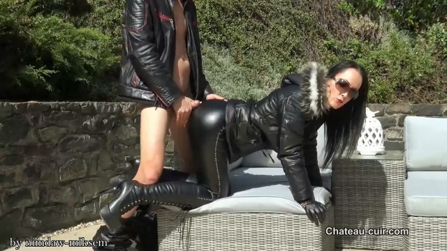 Horny leather couple outdoors part 1.mkv snapshot 06.49.977