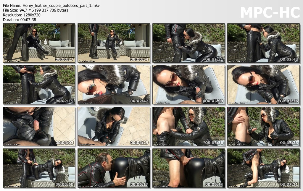 Horny leather couple outdoors part 1.mkv thumbs