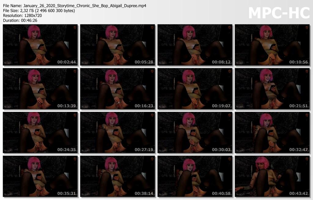 January 26 2020 Storytime Chronic She Bop Abigail Dupree.mp4 thumbs
