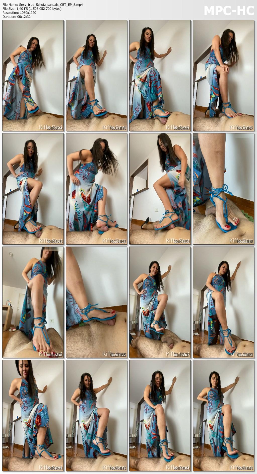 Sexy blue Schutz sandals CBT EP 8.mp4 thumbs